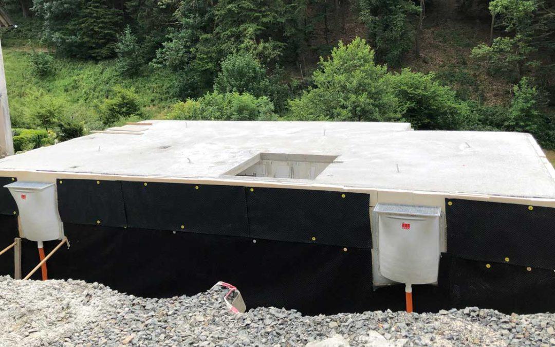 Der Keller für unser ISOWOODHAUS ist fertig