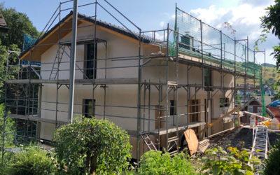 Unser Isowoodhaus am Höhenflug – die Bauphase